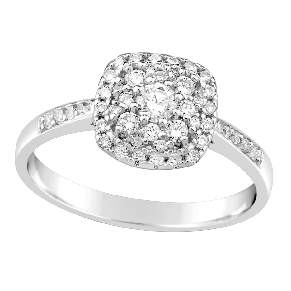 White Gold & Diamond Engagement Ring E1162WG