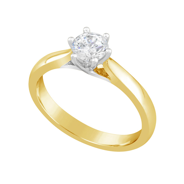 Yellow Gold & Diamond Engagement Ring E1206YG