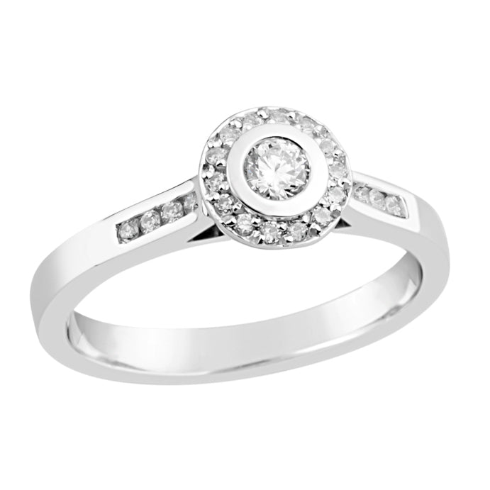 White Gold & Diamond Engagement Ring E1294WG