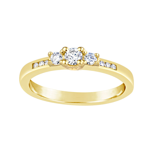 Yellow Gold & Diamond Ring E1317YG