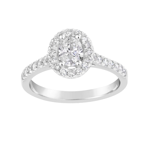 White Gold & Diamond Engagement Ring E1375WG