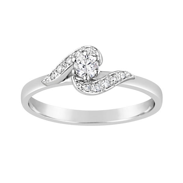 White Gold & Diamond Engagement Ring E1511WG