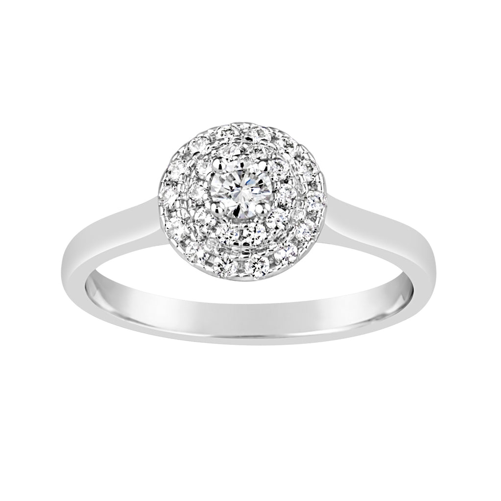 White Gold & Diamond Engagement Ring E1515WG