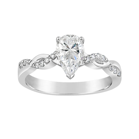 White Gold & Diamond Engagement Ring E1523WG