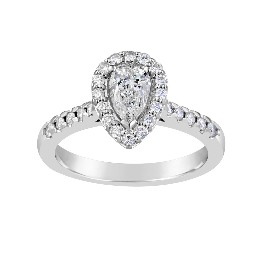 White Gold & Diamond Engagement Ring E1732WG