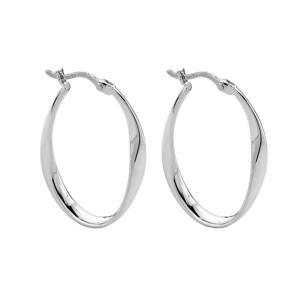 Najo silver hoop earrings