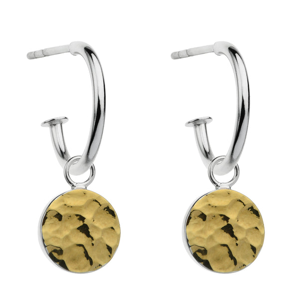 Najo two-tone hammer finish earrings