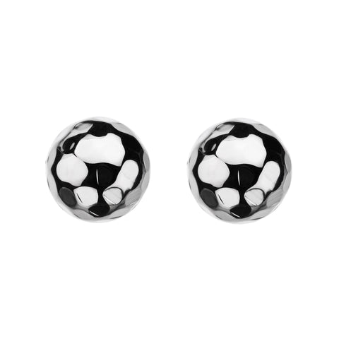 Najo 12mm Beaten Ball Stud Earrings E5376