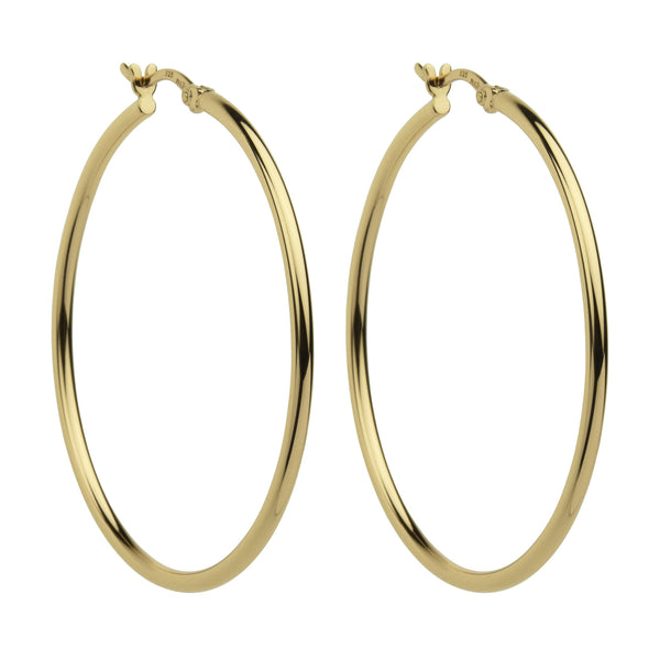 Gold finish hoop earrings