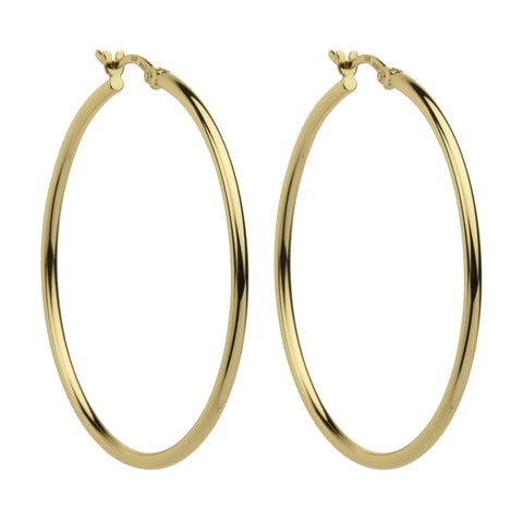 Najo 45mm Simple Hoop Earrings (Yellow) E5464