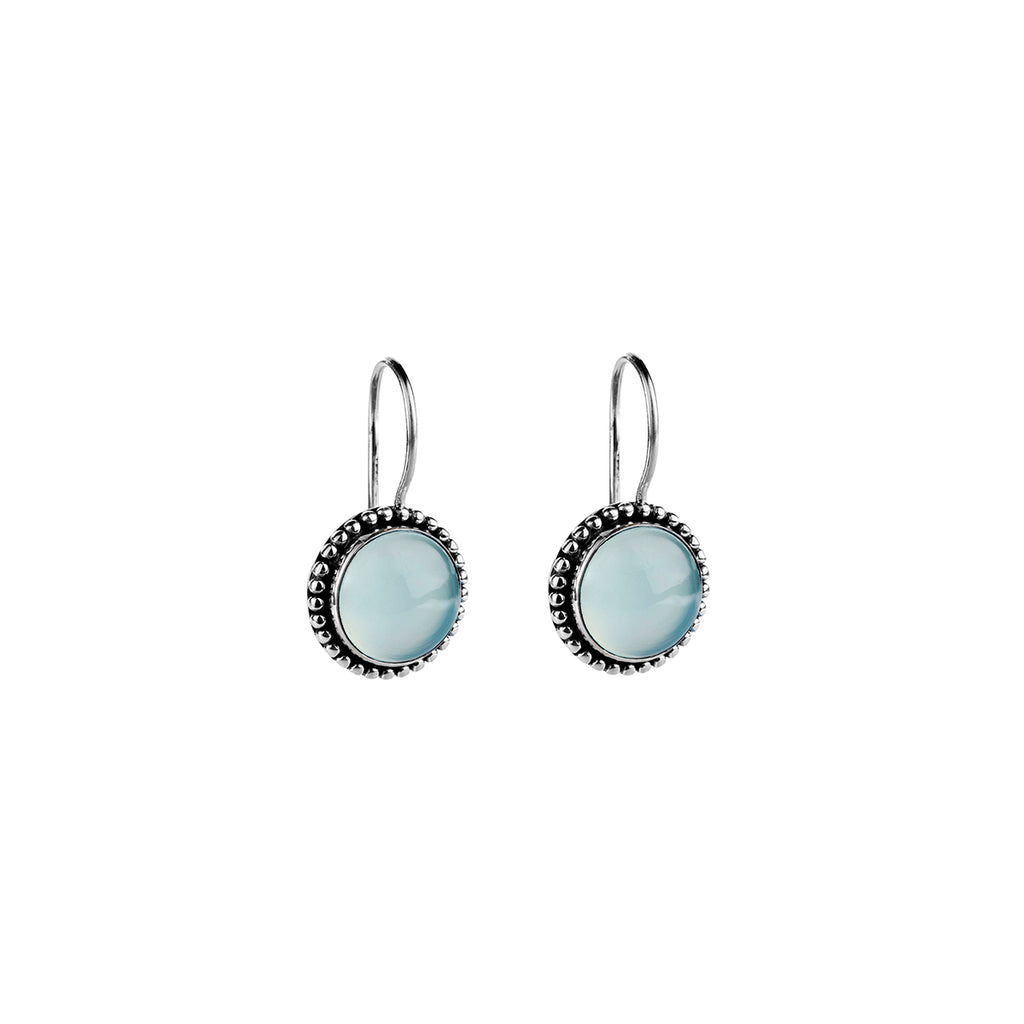 Najo silver and chalcedony earrings