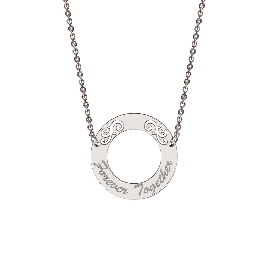 Sterling silver elaborate circle necklace