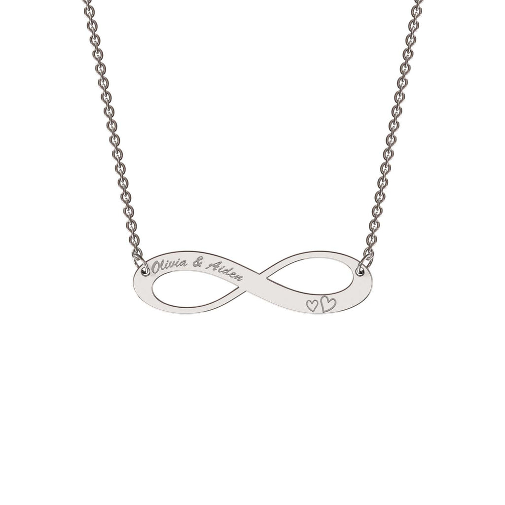 Sterling silver elaborate infinity necklace