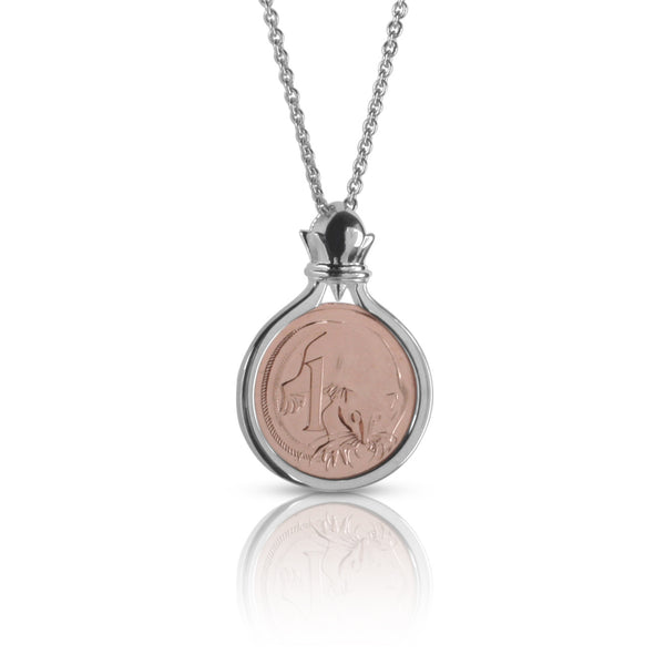One Cent coin pendant