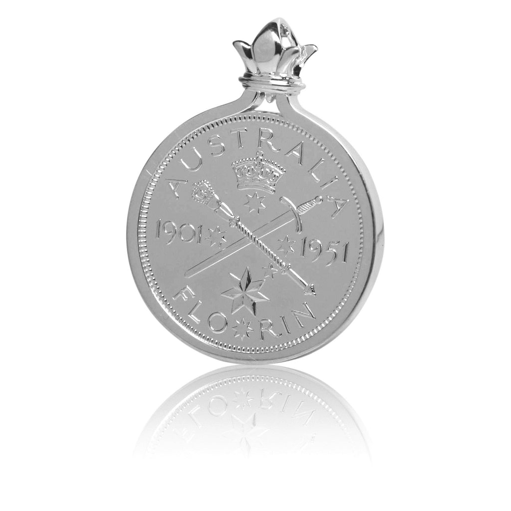 Silver pendant with Federation commemorative coin