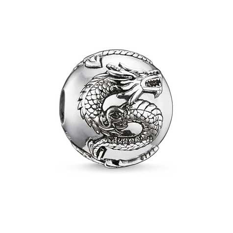 Silver dragon Karma Beads charm