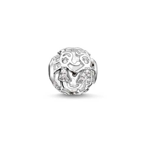 Silver and CZ kids Karma Beads charm