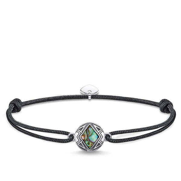 Adjustable bracelet with abalone
