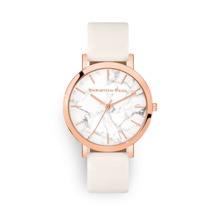 Rose watch with marble dial