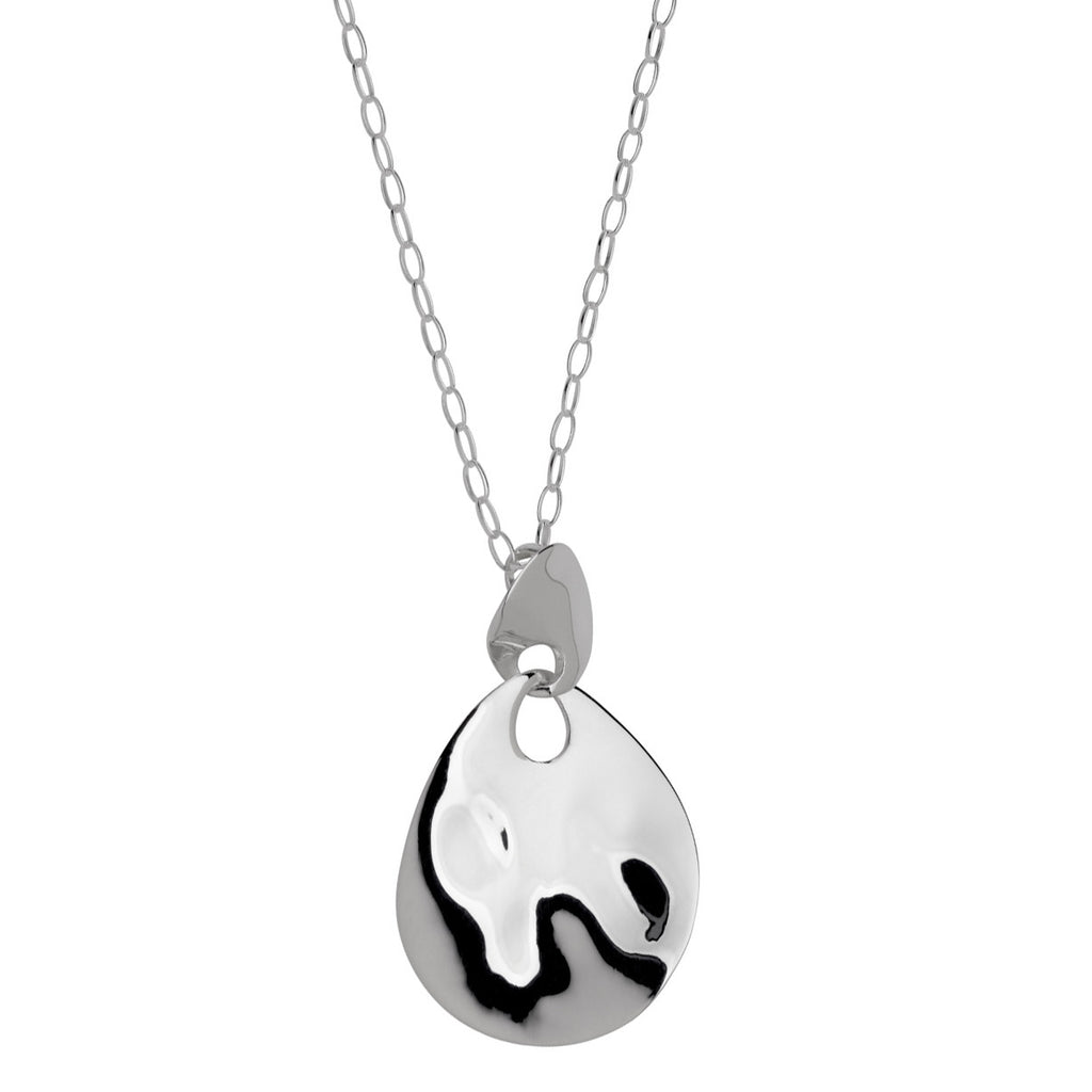 Najo hammer finish silver pendant on chain