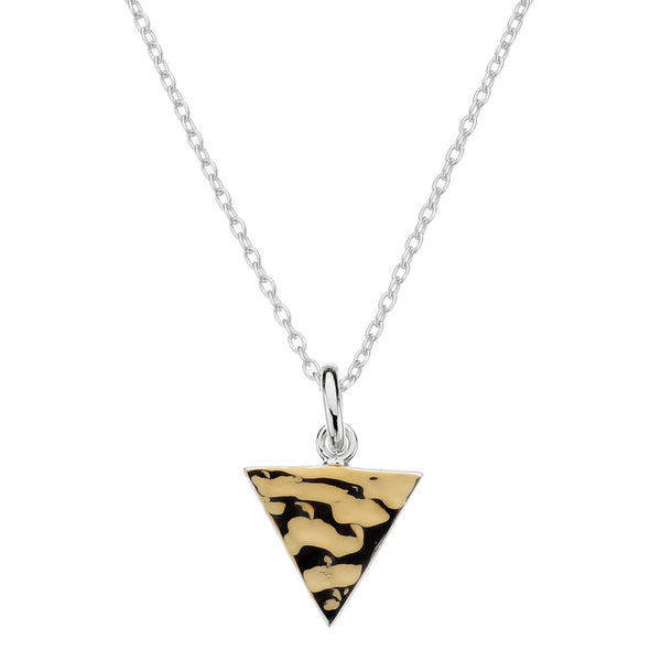 Najo two-tone triangle pendant