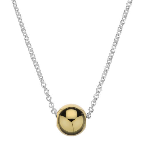 Gold finish ball necklace