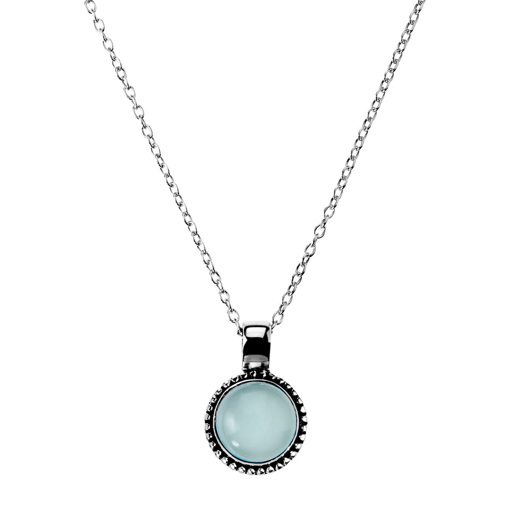 Najo silver and chalcedony necklace