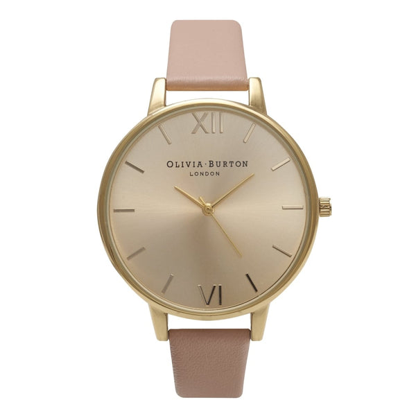 Dusty pink and gold watch