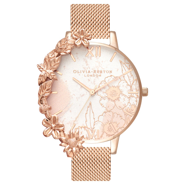 Rose watch with cuff