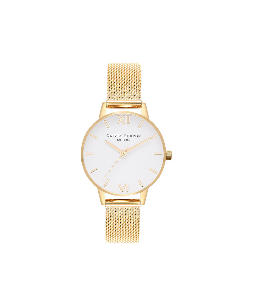 Yellow mesh watch