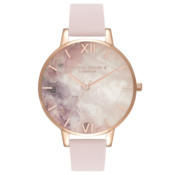Rose quartz watch