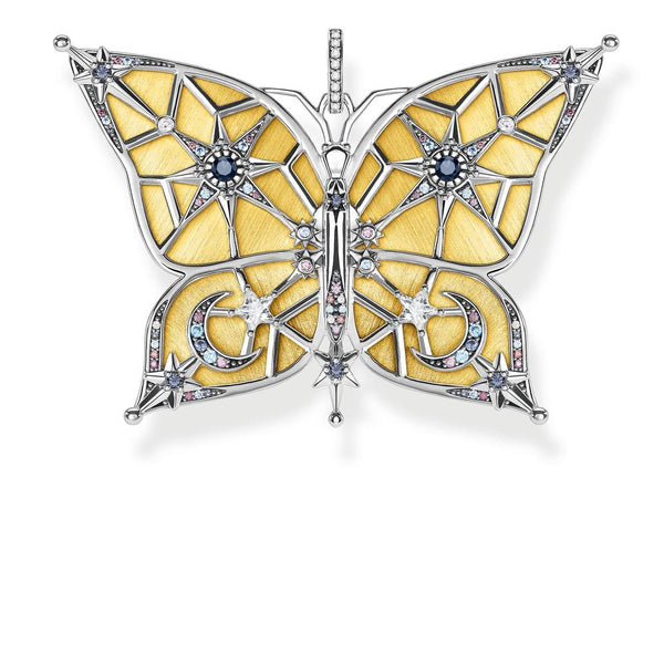 Two-tone butterfly pendant