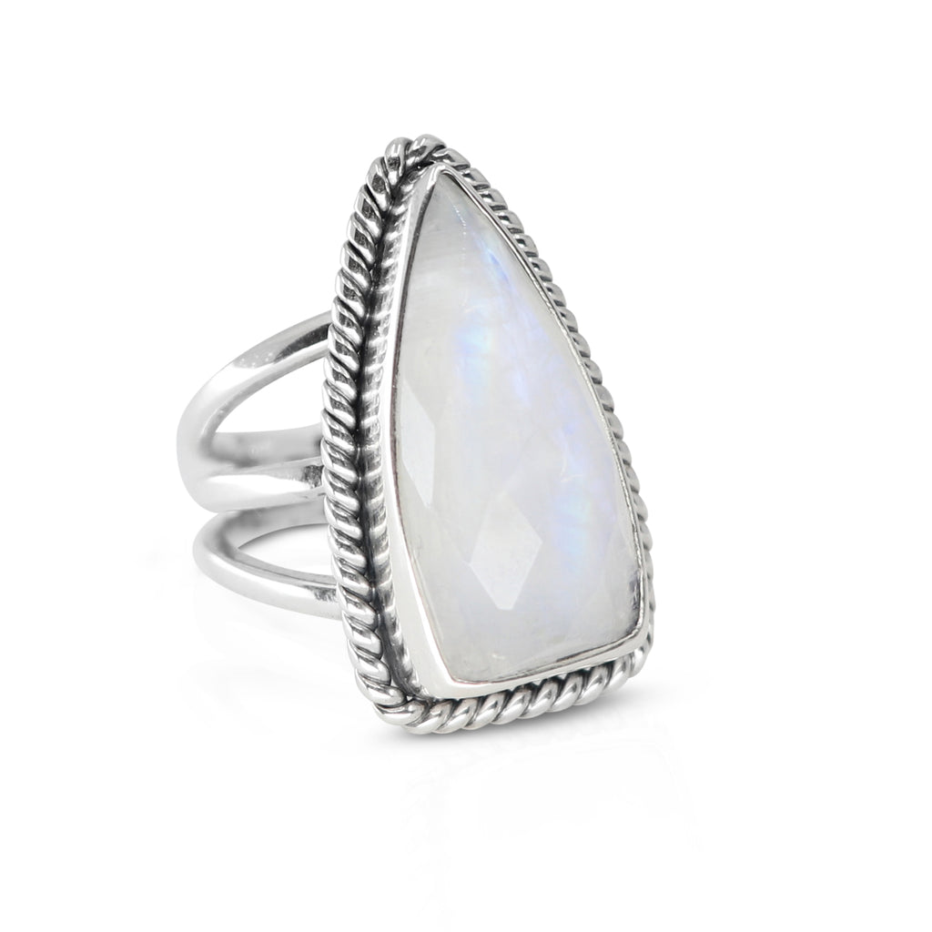 Toni May Queen of Spades Ring (Moonstone)