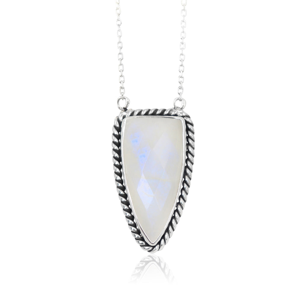 Toni May Queen of Spades Necklace (Moonstone)
