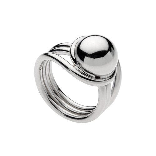 Najo silver ring with ball and multi-band