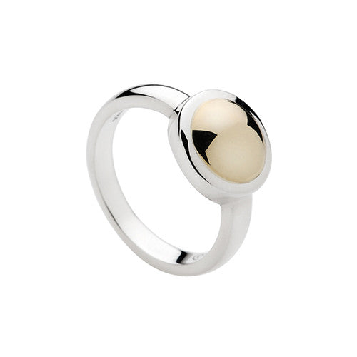 Najo silver ring with brass centre