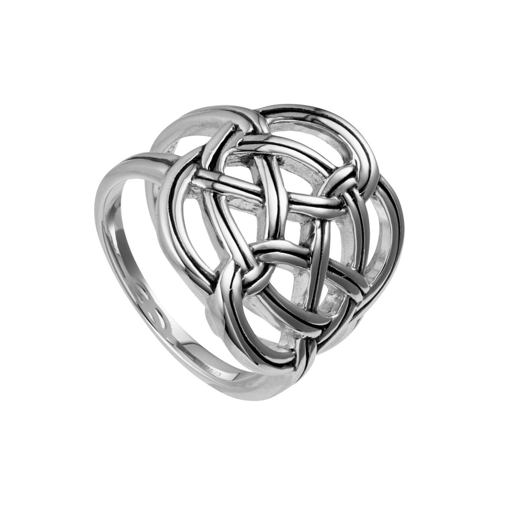 Najo silver woven knot ring