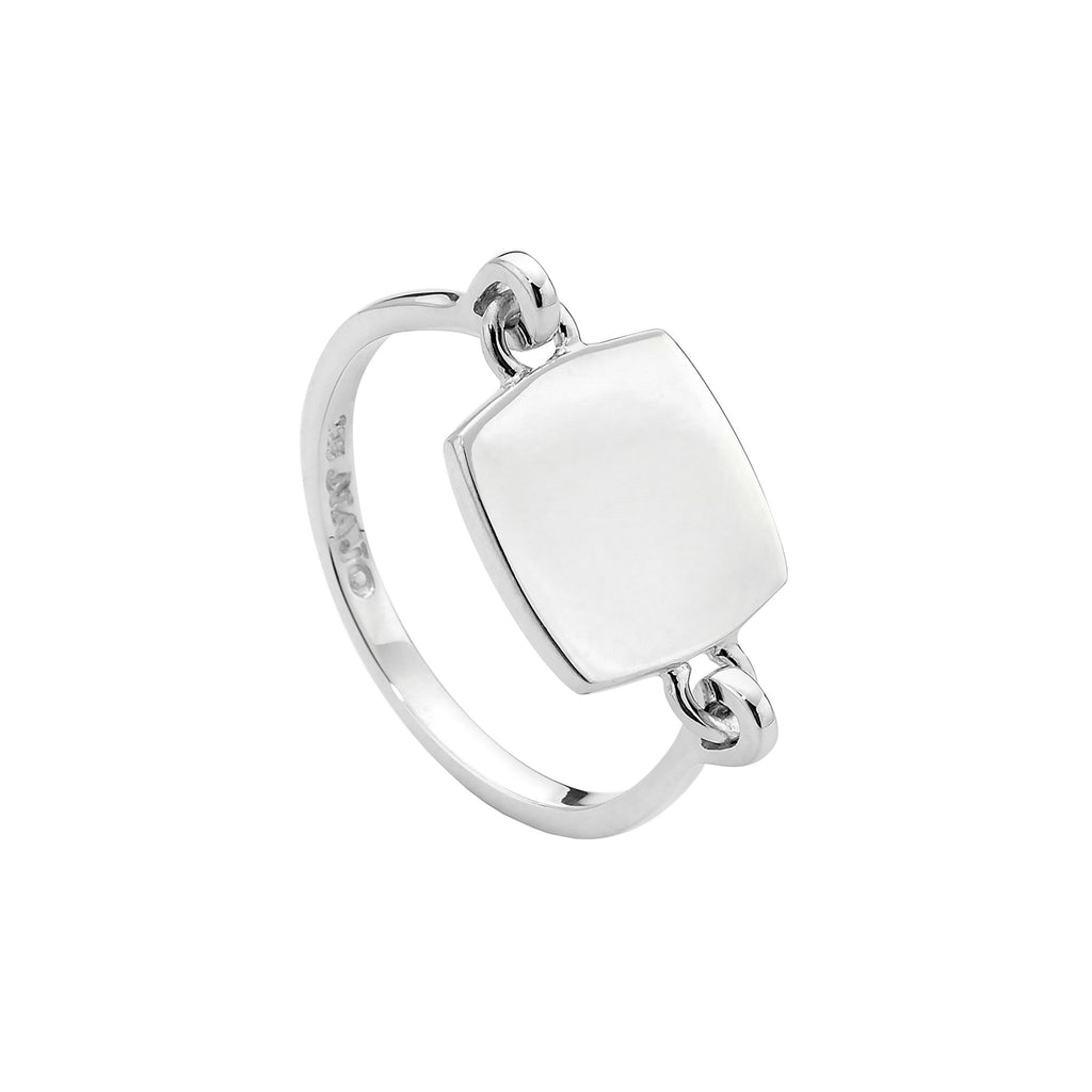 Najo silver square top ring