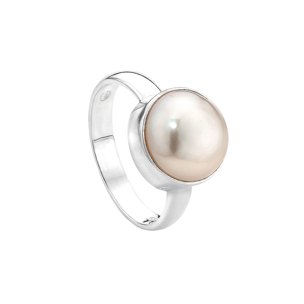 Najo silver and pearl ring