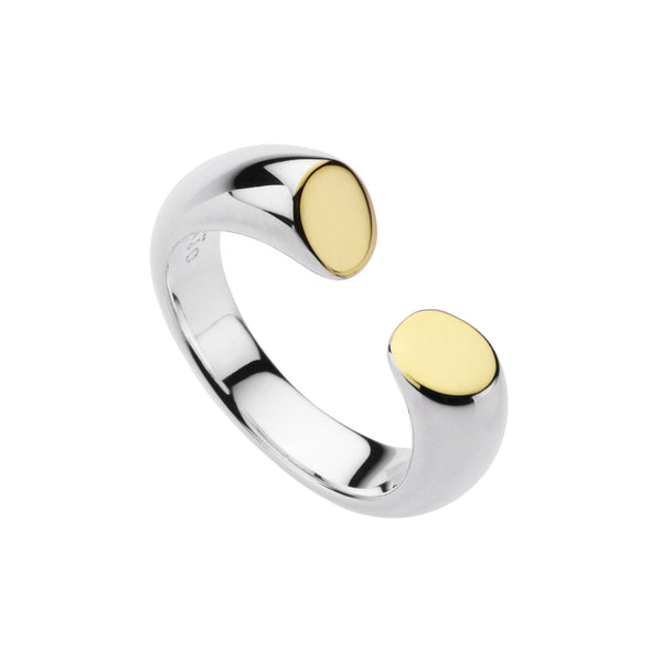 Najo polished two-tone open ring