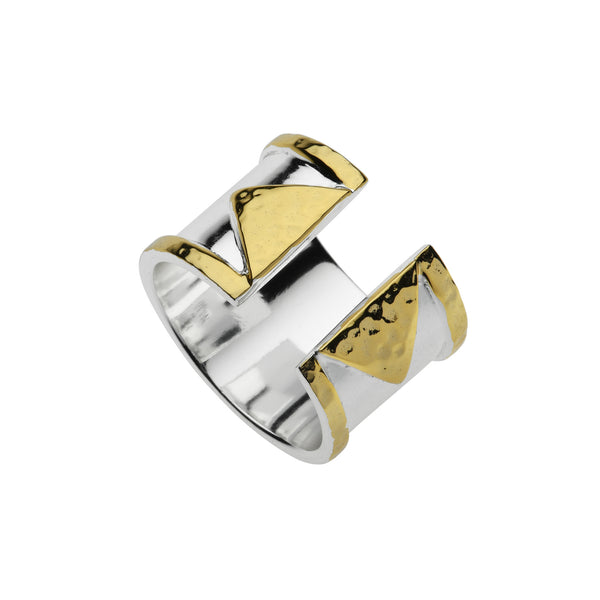 Najo two-tone open ring