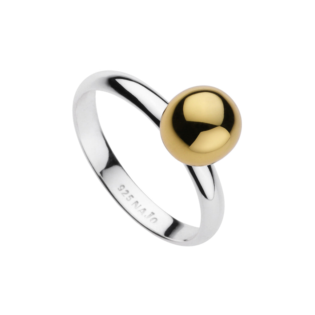 Najo two-tone polished ball ring