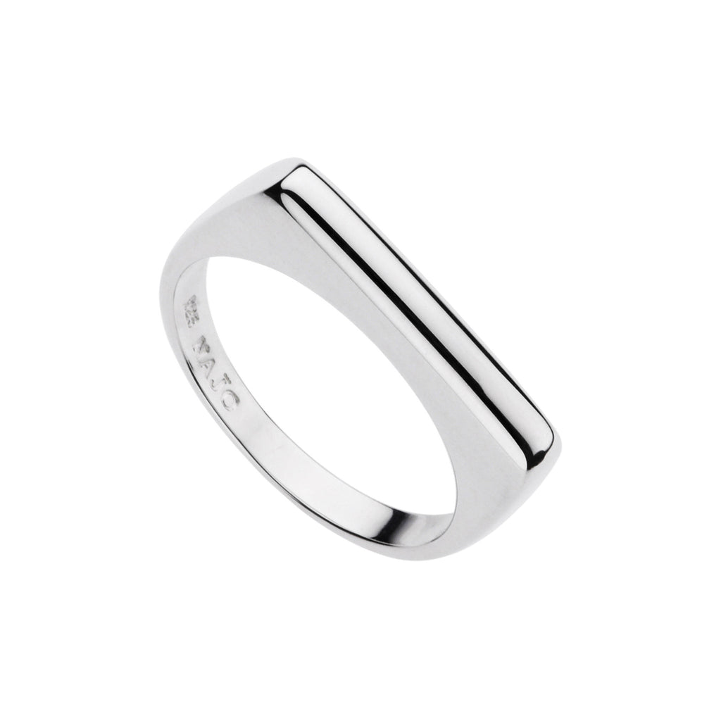 Najo plain silver bar ring