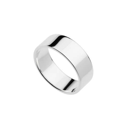 Polished silver ring
