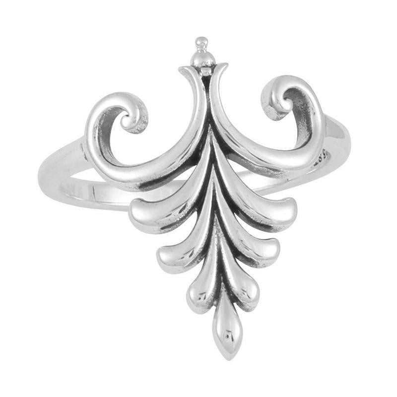 Silver fountain ring