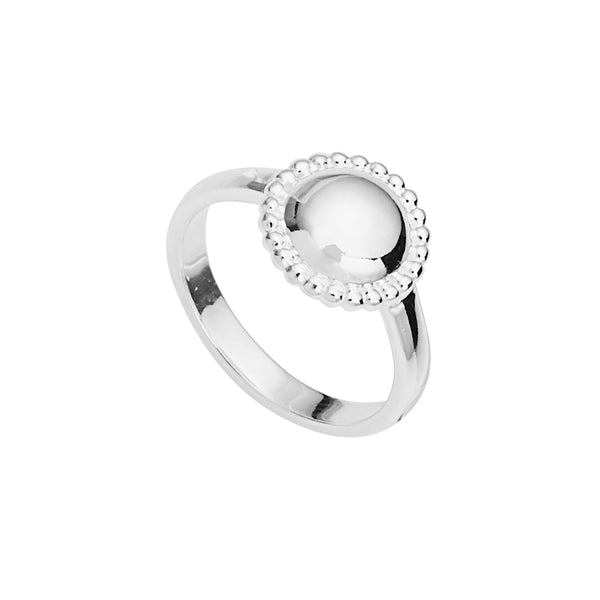 Najo Beaded Silver Glow Ring R5920
