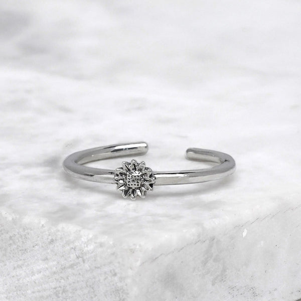 Midsummer Star Tiny Sunflowers Adjustable Ring R825