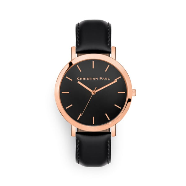 Black and rose watch