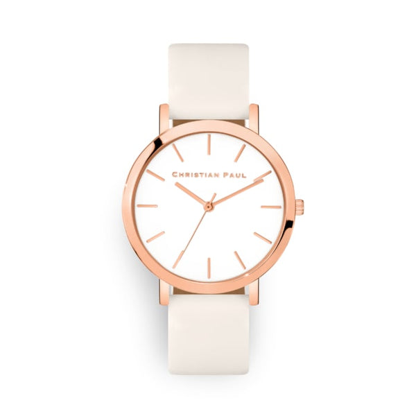 White and rose watch