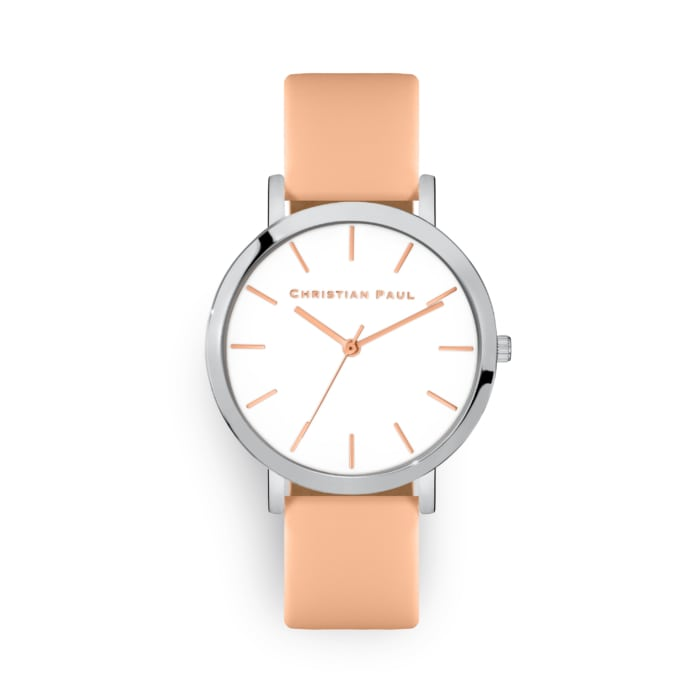 Two tone leather watch